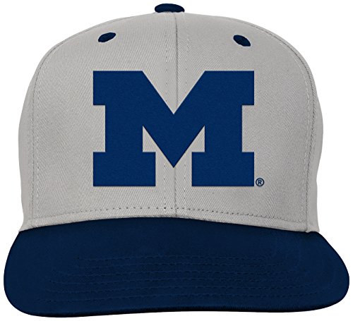 new arrivals 233b8 9bc4a All NCAA Flat Brim Hats. NCAA by Outerstuff NCAA Michigan Wolverines Kids    Youth Boys Grey Two Tone ...