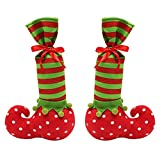 Lisli Christmas Holiday Stocking Elf Boots Shoes Santa Claus Gift Bag Xmas Tree Ornament Decor