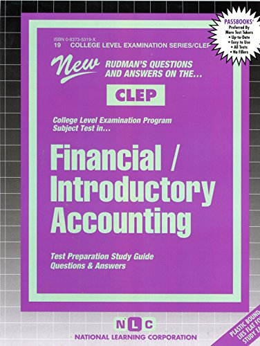 FINANCIAL ACCOUNTING (College Level Examination Series) (Passbooks) (COLLEGE LEVEL EXAMINATION SERIES (CLEP))