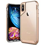 Caseology [Skyfall Series] iPhone Xs/iPhone X Case - [Clear Back/Premium Finish] - Gold
