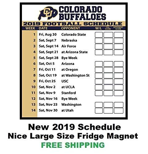 Football 123 - 2019 NCAA Colorado Buffaloes Football Schedule Fridge Magnet #123