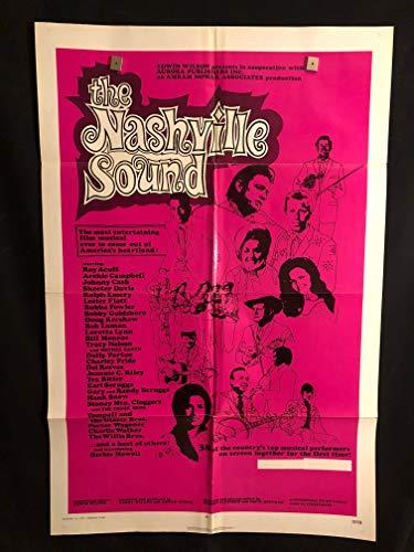 The Nashville Sound 1972 Original Vintage One Sheet Movie Poster, Country, Music, Johnny Cash, Dolly Parton, Loretta Lynn, Tex Ritter, Roy Acuff