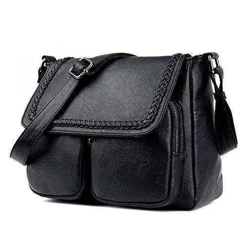 Sac À Black GWQGZ Nouvelle Simple Sacoche À Pour Bandoulière Femme Noir Sac Main Sw80HS