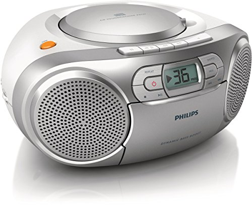 -[ Philips AZ127 Portable CD Player with Radio, Cassette, Dynamic Bass Boost, Audio-In (3.5 mm)  ]-