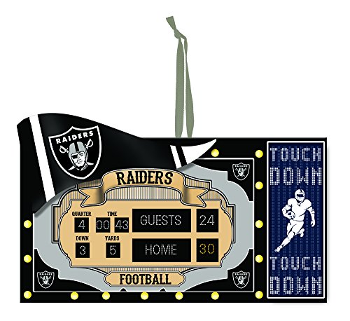 NFL Oakland Raiders Scoreboard Ornament