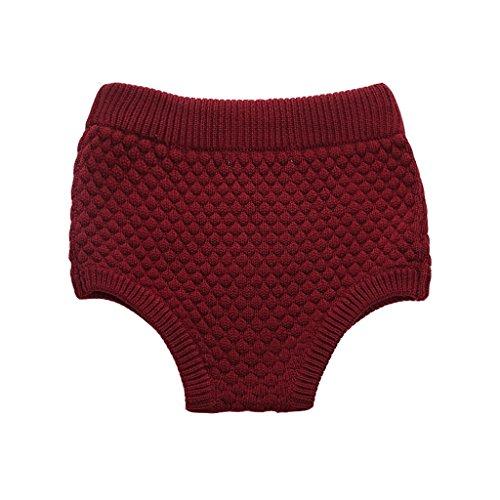 Wennikids Toddler Baby Boys & Girls Pumpkin Pants Knit Baby Bloomers Shorts X-Large (08 Pumpkin)
