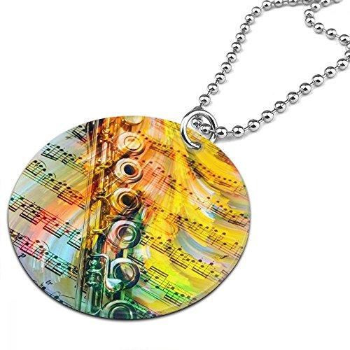 Custom Color Flutes - Necklace Pendant Unisex Accessories Color Round Ornaments Flutes Necklaces