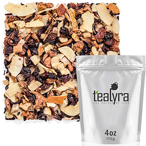 Tealyra - Crushed Cherry Colada - Pineapple - Hibiscus - Coconut - Fruity Herbal Loose Tea - Caffeine Free - Hot or Iced - 112g (4-ounce) ()