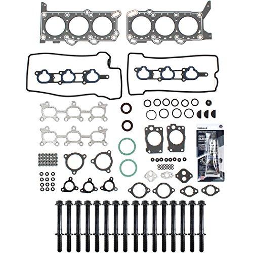 New CH7630HBSI Graphite Cylinder Head Gasket Set, Head Bolts Kit, & RTV Gasket Sealant for Chevrolet Tracker (01-04) / Suzuki Grand Vitara (99-05) 2.5L V6 H25A Engine