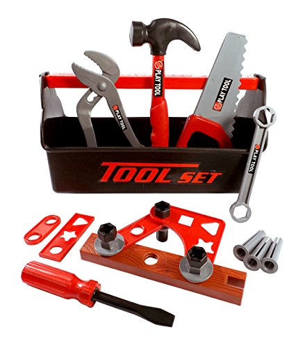 21 Piece Workshop Tool Box Toy Set for Kids ()