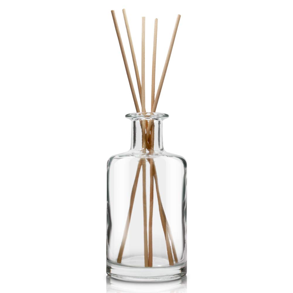 Feel Fragrance  Glass Diffuser Bottles Diffuser Jars with Cork Caps Set of 4 - 5.3 inches High, 240ml 8.2 Ounce. Fragrance Accessories Use for DIY Replacement Reed Diffuser Sets. by Feel Fragrance  (Image #6)