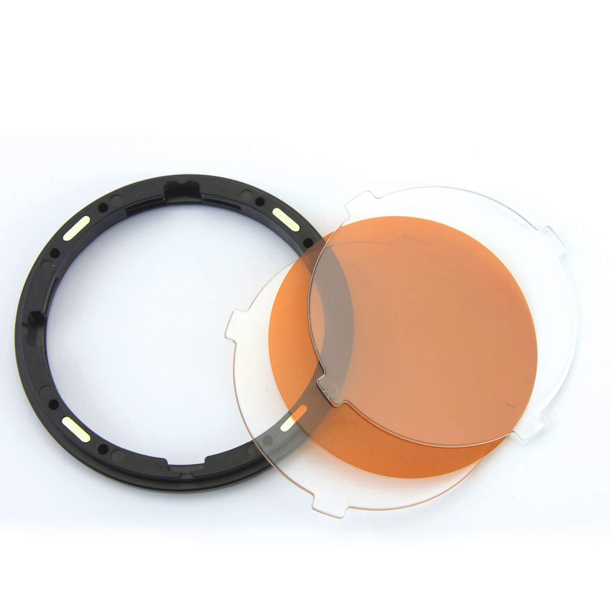 Godox AK-R16 Piastra diffusore magnetico con set di gel di impostazione della temperatura di colore Godox V1 V11T per flash V1-C V1-N V1-F V1-S V1-O Speedlite