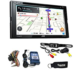 JVC KW-V840BT Android Auto/Apple CarPlay CD/DVD with back up camera and steering wheel control interface