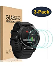 HEYUS [3 Pack] Fenix 5 Screen Protector, 9H Hardness 0.3mm 2.5D Scratch Resistant Anti-Bubbles Anti-Fingerprint Waterproof Tempered Glass Screen Protector Protective Film Cover for Fenix 5