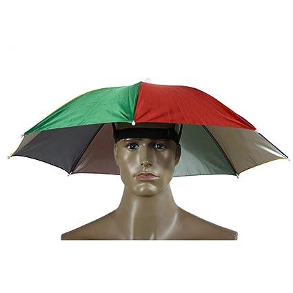 Marca nuevo portátil paraguas sombrero parasol festivales de Camping, pesca y senderismo al aire libre
