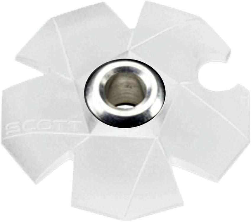 White Pack of 10-209138-0002200 Collar Scott Ski Pole Basket S3.6