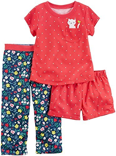 Carter's Girls' 12M-14 3-Piece Kitten Pajama Set 8 ()