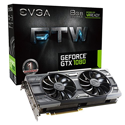 Price comparison product image EVGA GeForce GTX 1080 FTW GAMING ACX 3.0, 8GB GDDR5X, RGB LED, 10CM FAN, 10 Power Phases, Double BIOS, DX12 OSD Support (PXOC) Graphics Card 08G-P4-6286-KR