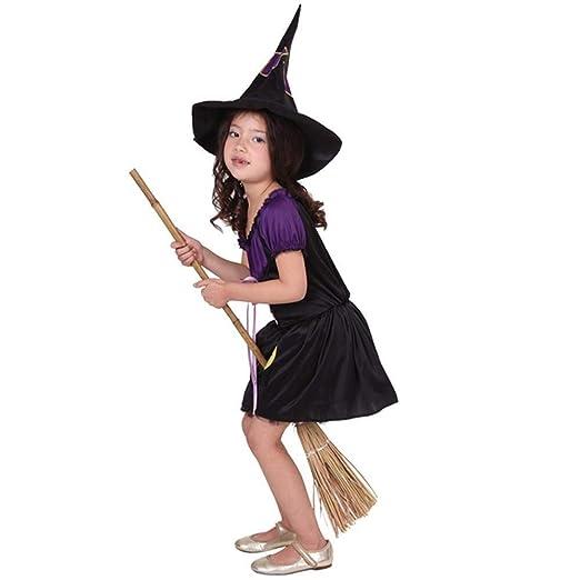 HUBINGRONG Vestido de Halloween Vestidos de la Bruja del Partido ...