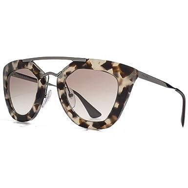 42cb1cf614 Prada Cinema Double Bridge Geometric Sunglasses in Spotted Opal Brown PR  09QS UAO1L0 49 49 Brown Gradient  Amazon.co.uk  Clothing