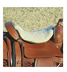 """Cashel Long Luxury Tush Cush Cushion Western Thick 1/2"""" or 3/4"""" Closed Cell Foam with Fleece Covering Color Tan or Black, Made in USA"""