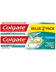 Colgate Total Whitening Toothpaste, Advanced Fresh + Whitening Gel, 5.1 ounce (2 Pack)