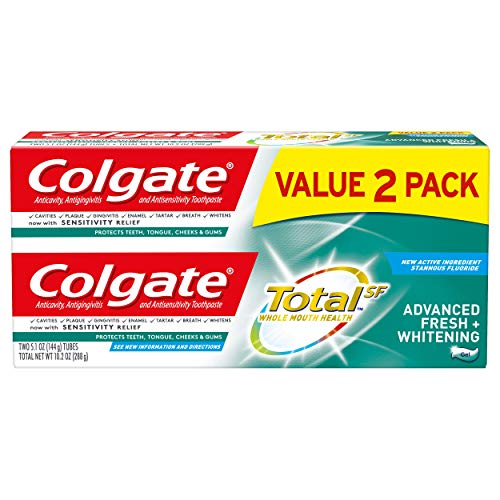 (Colgate Total Advanced Fresh + Whitening Gel Toothpaste - 5.1 ounce, 2 pack )
