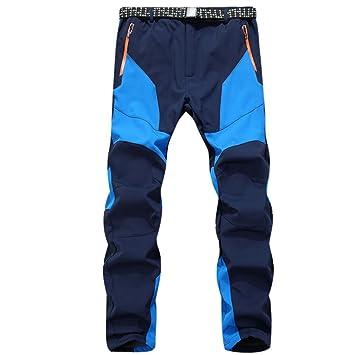 Pantalones de hombre Impermeable A prueba de viento Al aire libre Excursionismo Alpinismo Deportes Calentar Invierno Grueso Táctico Pantalones LMMVP ...