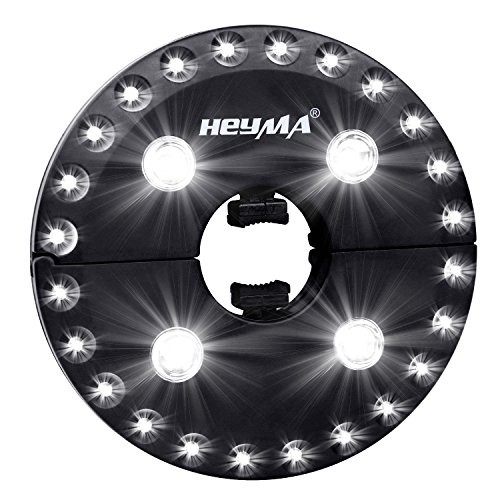 HEYMA Patio Umbrella Light Cordless 28 LED Lights with 3 Brightness Modes, Battery Operated Umbrella Pole Lights for Umbrella, Camping Tent, Outdoor