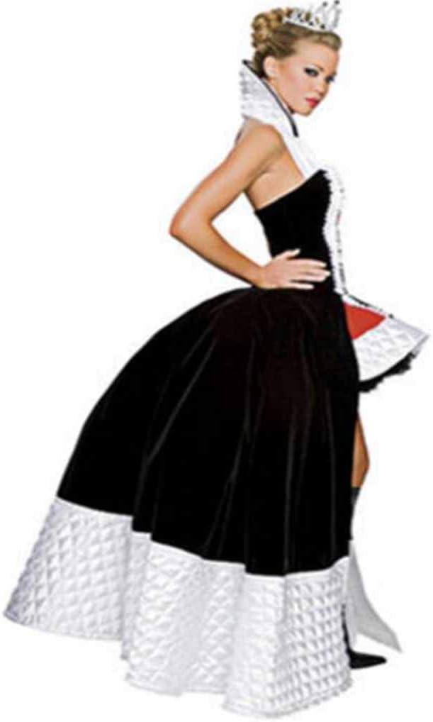 HZH Disfraz de Reina del Corazón Rojo de Halloween, Disfraz de ...