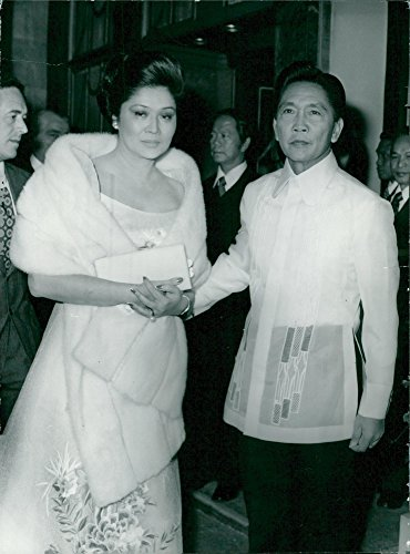 Vintage photo of Philippine President Ferdinand Marco with spouse Imelda Marcos