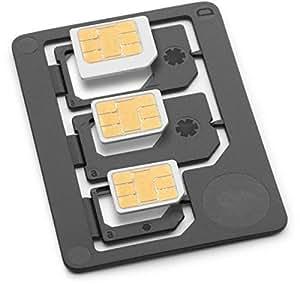 Saapni Sim Adapter - Nano To Micro, Nano To Full, Micro To Full Adapters, Made in Germany, Black