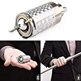 Dragon Honor Crazy Cane Wonderful Appearing Metal Silver Magic Close Up Illusion Silk to Wand