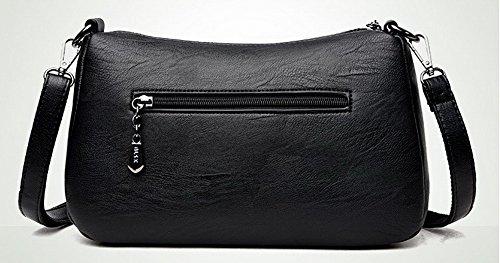Pu Bolsas de Casual Moda Negro cruzados mano AalarDom Bolsos TSMBH180926 Mujeres Adornado aSxOOE