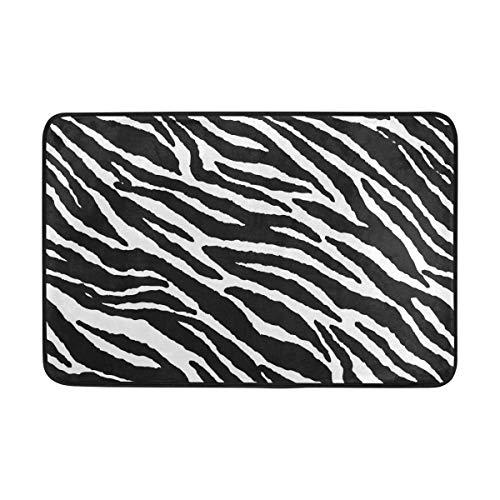 Animal Skins Zebra Print Bath Mat Non Slip Memory Foam Door Mat Bathroom Rugs Carpet for Inside Outdoor 15.7 x 23.6 in ()