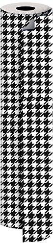 Jillson Roberts Bulk 1/2 Ream All-Occasion Gift Wrap, 30'' x 417', Houndstooth by Jillson Roberts