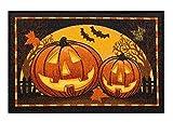 Midnight Market Accent Throw Rug Halloween Pumpkins