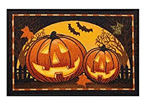 Midnight Market Accent Throw Rug Halloween Pumpkins No Skid Kitchen Mat