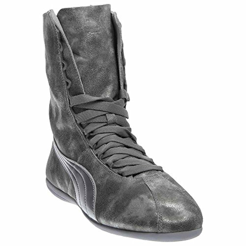 PUMA Women's Eskiva High Metallic Silver Sneaker 8.5 B (M)