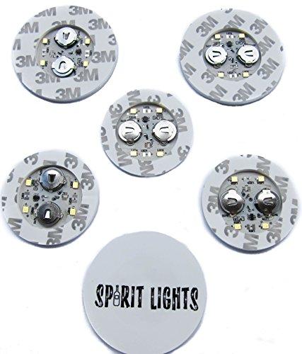 LED-BOTTLE-GLORIFIER-BAR-DISPLAY-GLOW-SPIRITS-WINE-LIGHT-UP-STICKER-VIP-6-PACK-MINI-GLOWER (Yellow)