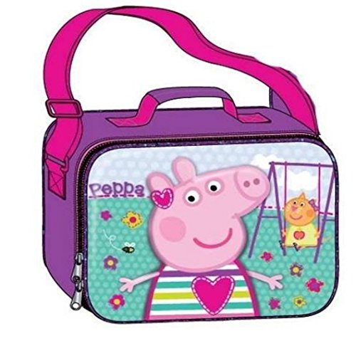 PEPPA PIG Deluxe Girls' 3D Lunch Bag With Long Shoulder - Pig Lunch