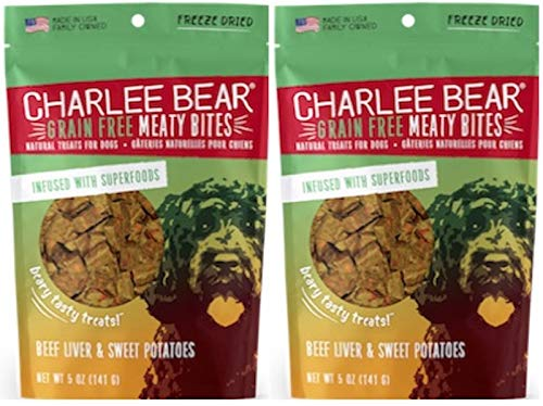 - Charlee Bear Meaty Bites - Beef Liver and Sweet Potatoes 5 oz - 2 Pack