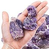 UFEEL 1lb Bulk Amethyst Crystal Raw- Large