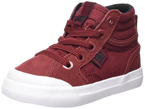 DC Shoes Evan Hi, Zapatillas Para Niños Rojo (Deep Red)