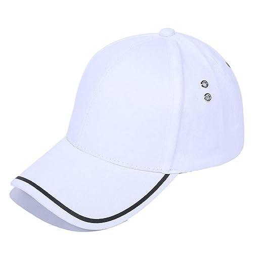 Wghz Gorras de béisbol Lisas Hombres Algodón Ajustable Sombrero ...