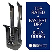 OdorStop Boot and Shoe Dryer and Deodorizer with Heat and High Output Fan (4 Boot)
