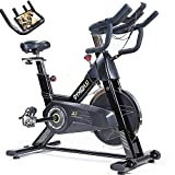 PYHIGH S7 Indoor Cycling Bike-Professional Stationary Bike Exercise Bike 44 lbs Flywheel for Home Cardio Gym Workout-Indoor Bike with Pulse Rate Sensors and iPad Holder (Black)