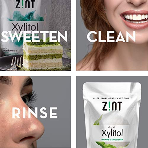 Zint Organic Xylitol Sweetener: Natural Sugar Free Substitute, Non GMO, Low Glycemic Index, Measures & Tastes Like Sugar (16 ounces) by Zint (Image #3)