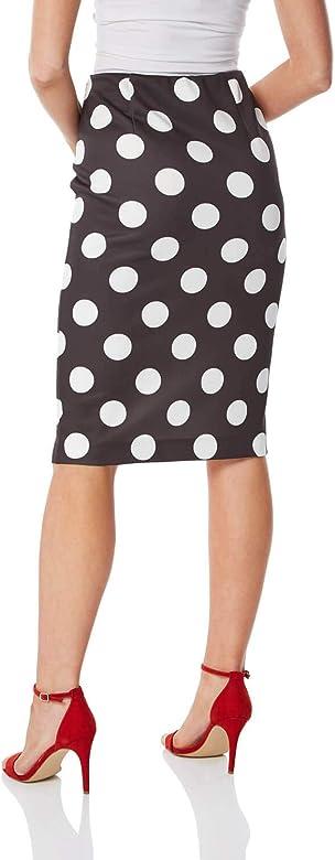 Roman Originals falda monocromática para mujer - Negro - 38 ...