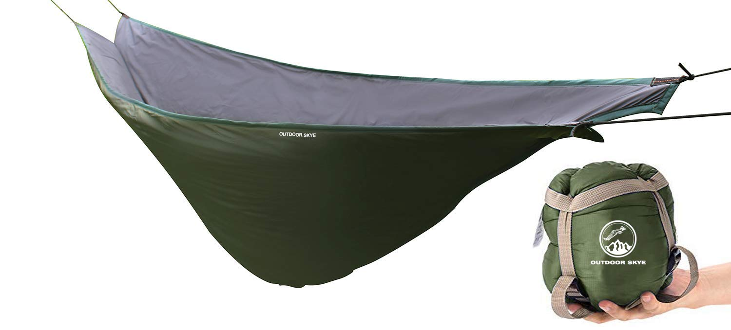 Outdoor Skye Hammock Underquilt Lightweight Sleeping Bag Quilt for Camping, Backpacking, Backyard - Packable Full Length Under Blanket Add Hollow Cotton by Outdoor Skye